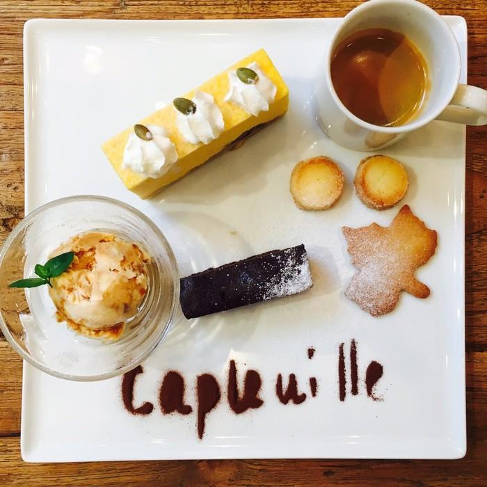 千駄木のカフェ、ケープルヴィルの名物スイーツになりました。カフェ・グルマン。フランス生まれです。