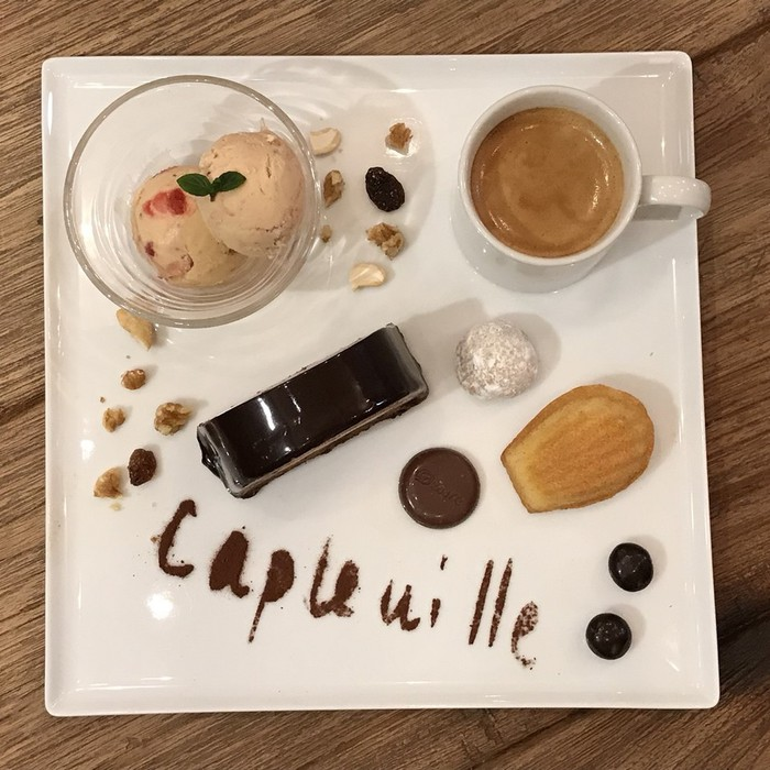 東京・文京区千駄木のカフェ・CAPLEVILLEの人気カフェグルマン。3月はチョコレートとラムをたっぷり使いました。