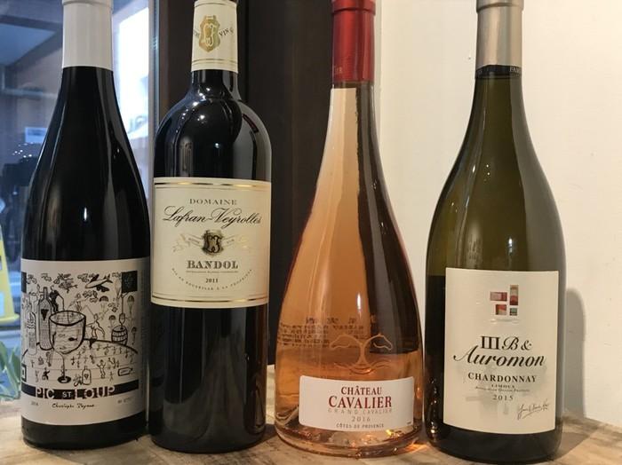 ケープルヴィルの人気ワイン会のワイン好きの喜ぶ南仏ワイン赤ロゼ白