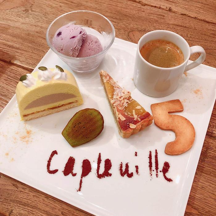 秋のケーキ盛り合わせ。カフェグルマン 。