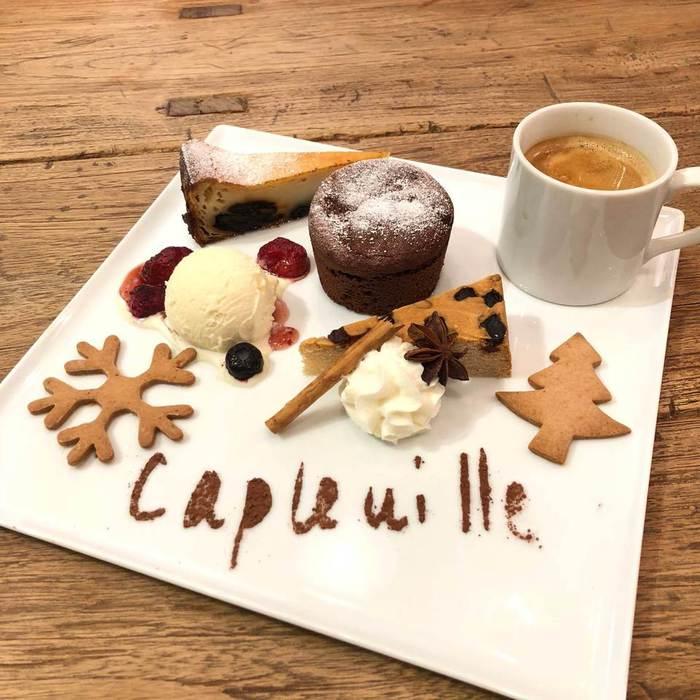 カフェグルマン はパティシエによる本場のケーキの盛り合わせ。千駄木のケープルヴィルのカフェでお召し上がりいただけます。