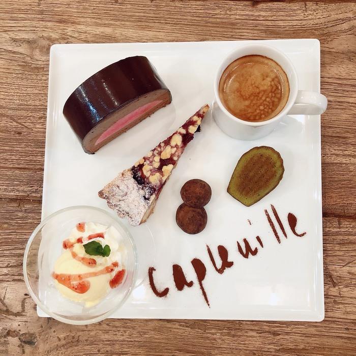 東京・文京区千駄木の人気古民家カフェ、ケープルヴィル写真館&カフェのおいしいパティシエの自家製ケーキセット、カフェグルマン 。定休日のご案内。