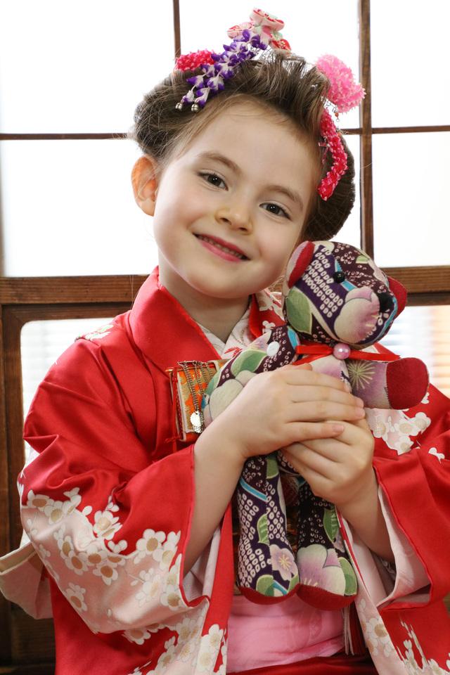 7歳の七五三を文京区千駄木の写真館でおしゃれに