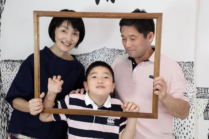 家族の集合写真、10歳記念に。