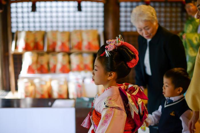 東京都台東区の諏訪神社の社殿は秋の光を浴びて七五三にふさわしい美しさ。ケープルヴィルのカメラマンが出張して撮影。