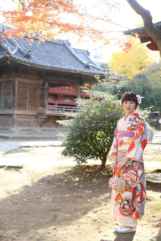 前撮り撮影は、落ち着いた雰囲気のなか、シックに撮影したいものです。根津神社や庭園など、撮影にぴったりの場所にロケーション撮影。