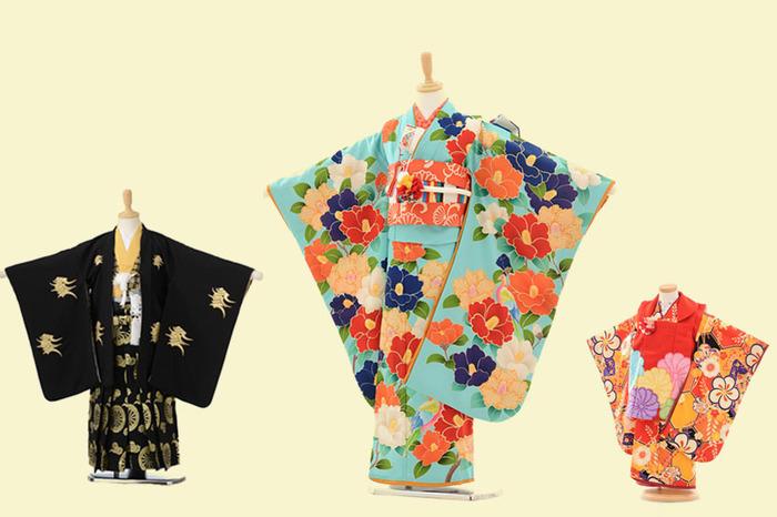 文京区千駄木の人気フォトスタジオのレンタル衣装。京都の貸衣装やさんと提携していますので種類が豊富で色や柄がたくさん。