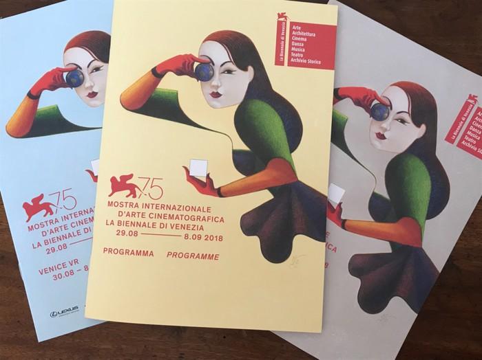 今年のイタリア・ベネチア映画祭のポスターデザインはこちらです。