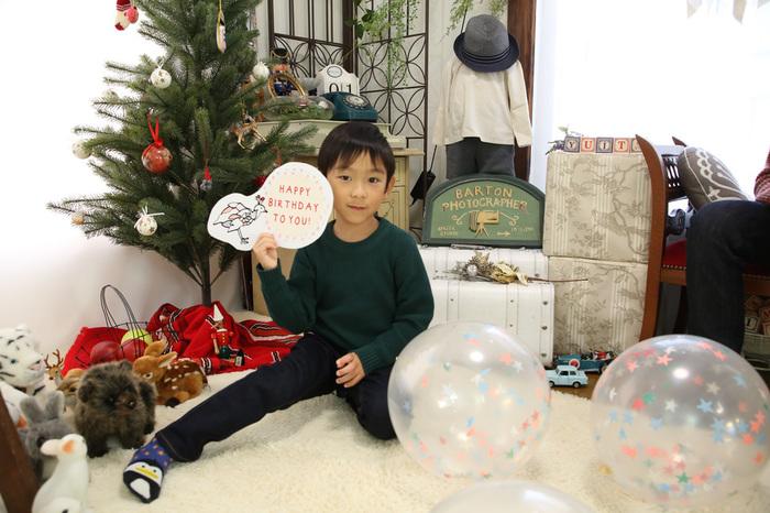 かわいい男の子の6歳バースデー
