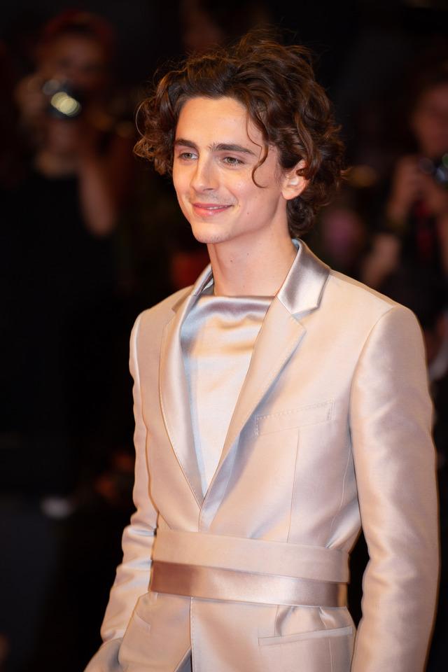 ティモシー・シャラメ。「君の名前で僕を呼んで」アカデミー賞ノミネートの俳優。ベネチア映画祭に「king]で登場。