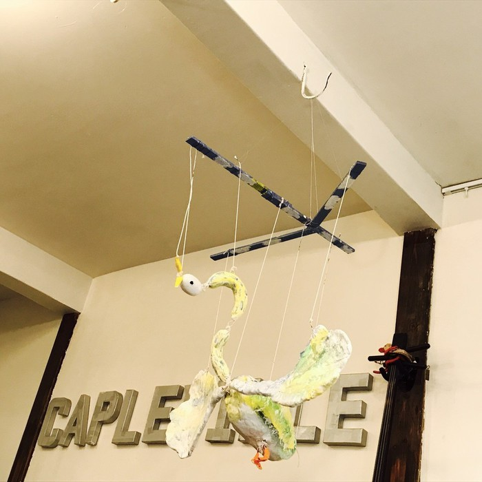 ケープルヴィルでは芸工展期間中にはポルケアートの展示をしています。