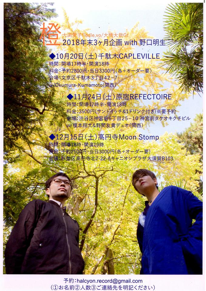 橙 アイルランド音楽の大渕愛子が弾くフィドル。文京区千駄木の写真館&カフェ、ケープルヴィルでにて。